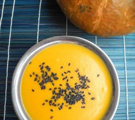 crema de calabaza especiada Ayurveda receta