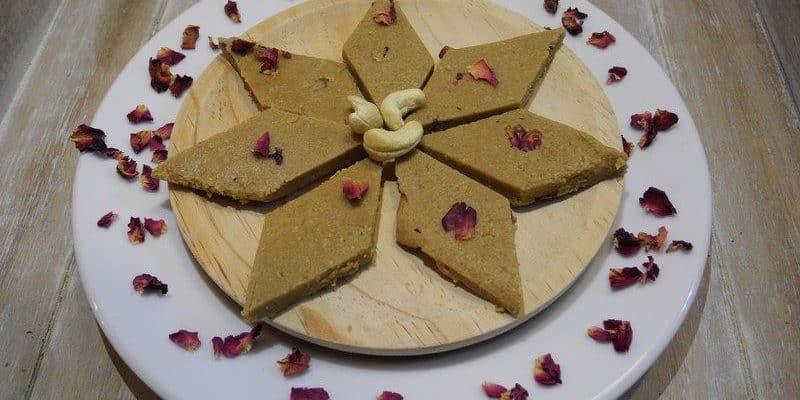 Kaju Barfi: postre Ayurveda, sano y nutritivo